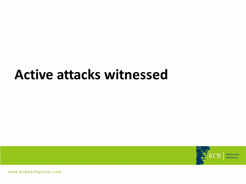 Active attacks witnessed