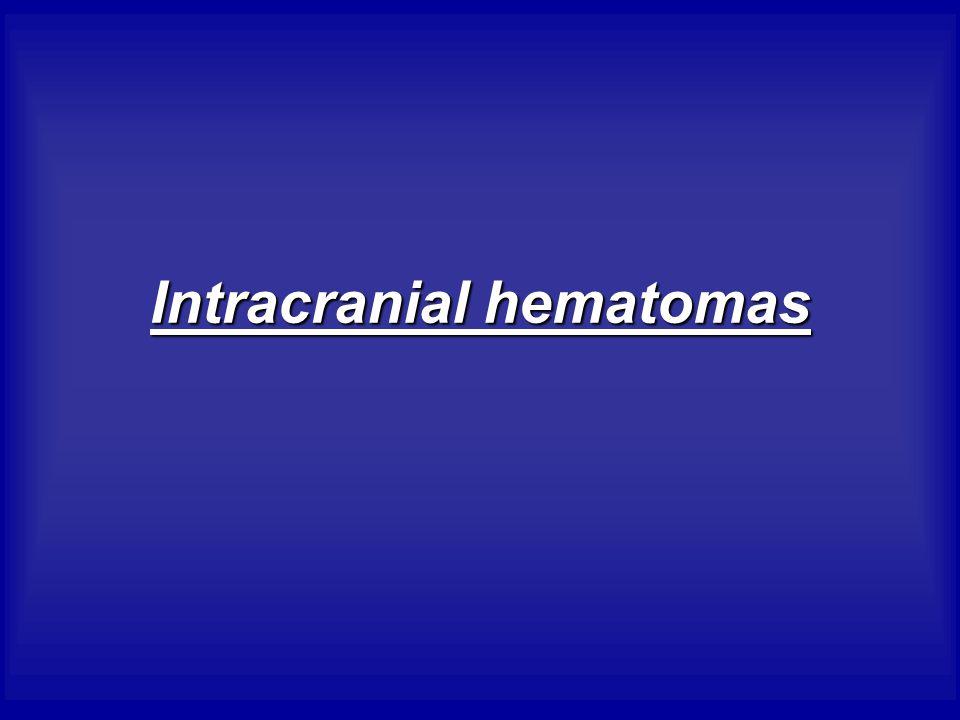 Intracranial hematomas