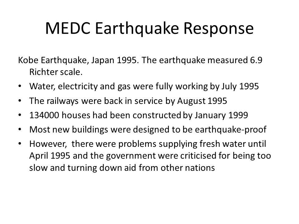 MEDC Earthquake Response Kobe Earthquake, Japan 1995.
