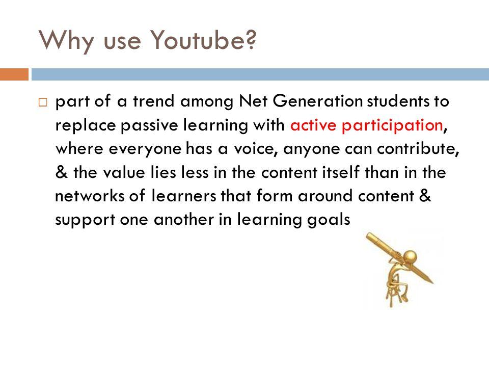 Why use Youtube.