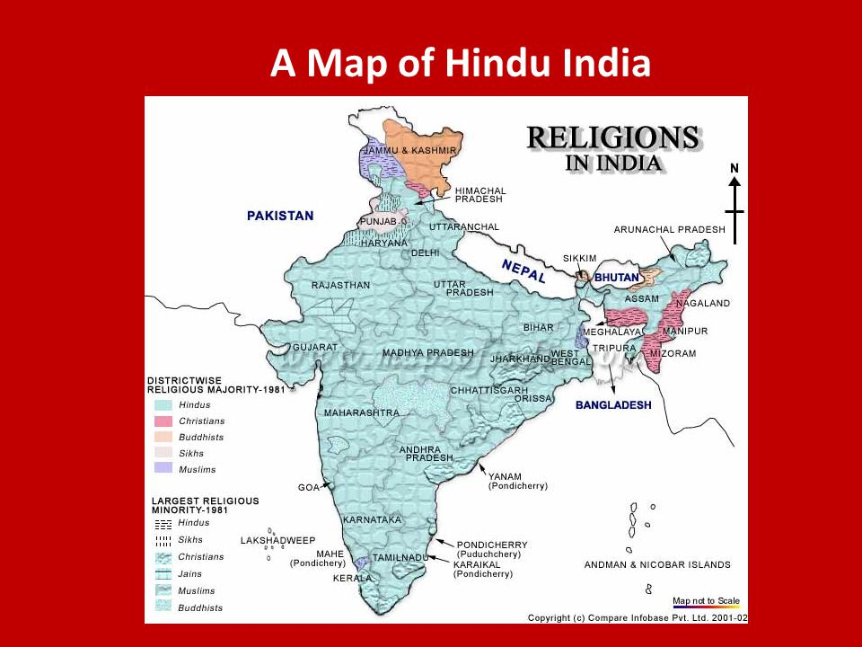 A Map of Hindu India
