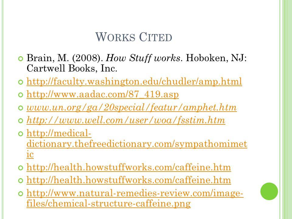 W ORKS C ITED Brain, M. (2008). How Stuff works.
