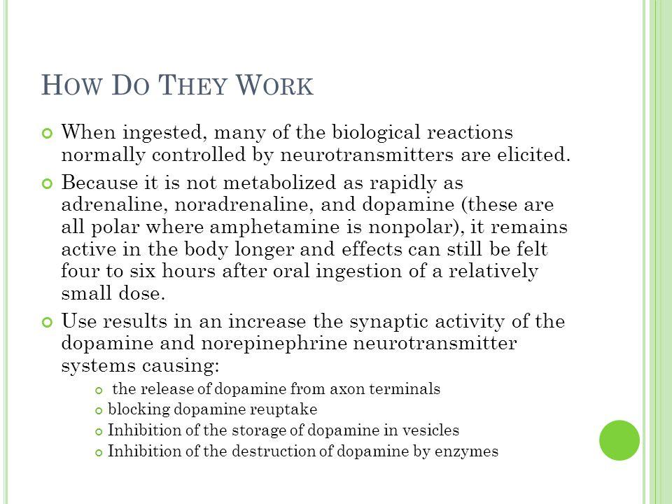 E FFECTS Increases dopamine levels (like amphetamines, heroine, and cocain) Dopamine: Neurotransmitter.