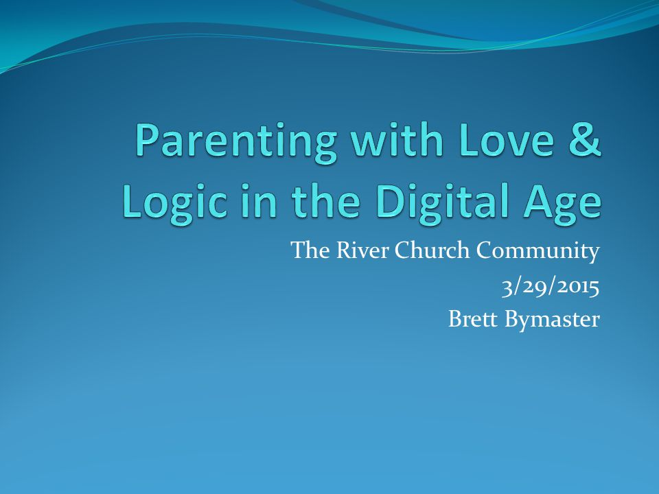 The River Church Community 3/29/2015 Brett Bymaster