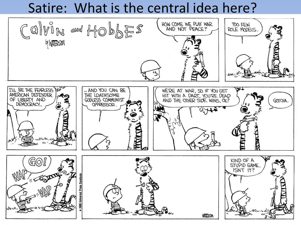 Satire: What is the central idea here