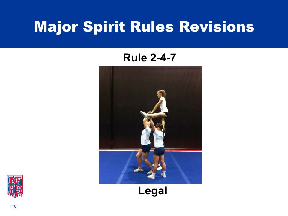 | 16 | Major Spirit Rules Revisions Rule 2-4-7 Legal