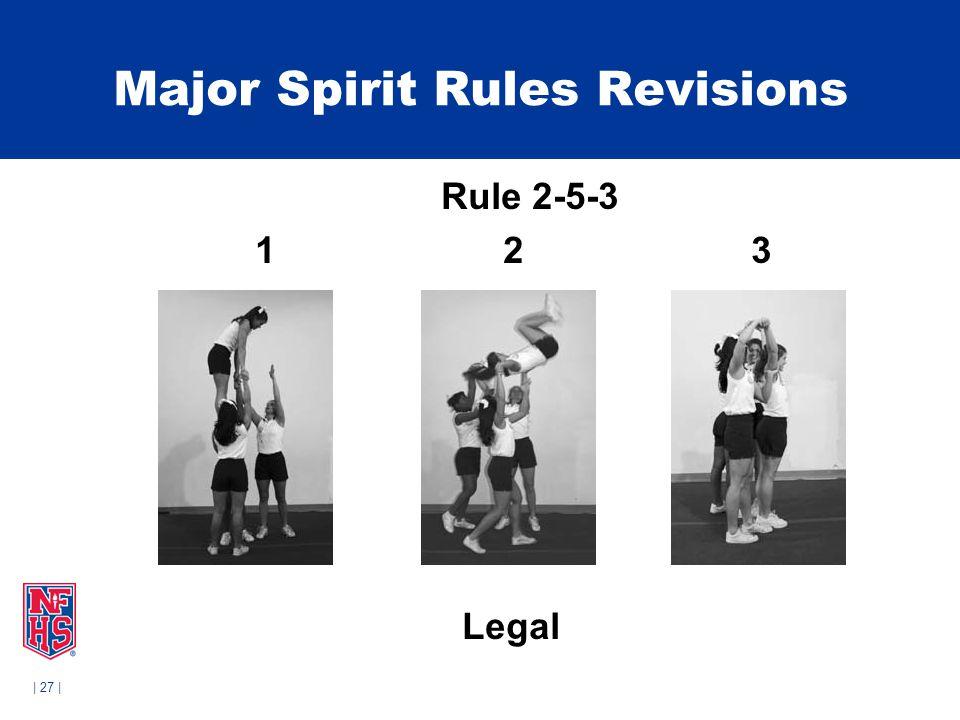 | 27 | Major Spirit Rules Revisions Rule 2-5-3 1 2 3 Legal