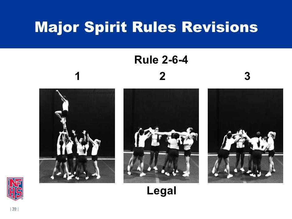 | 39 | Major Spirit Rules Revisions Rule 2-6-4 1 2 3 Legal