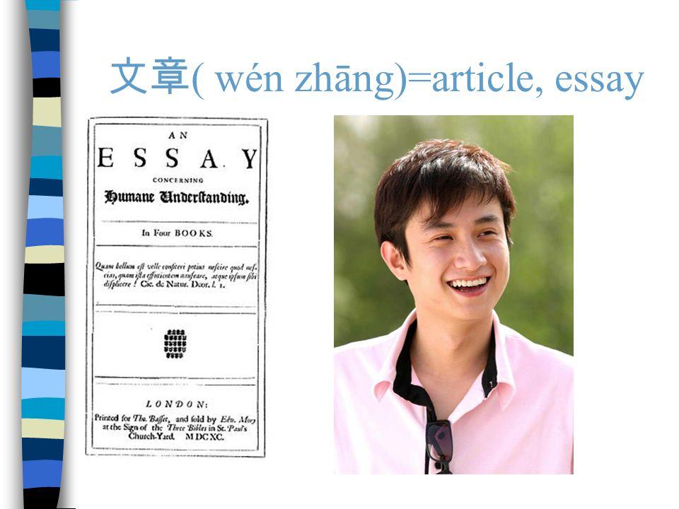 文章 ( wén zhāng)=article, essay