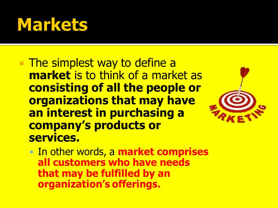  Market segmentation is a marketing strategy that involves dividing a broad target market into subsets of consumers who have common needs for the relevant goods and services.