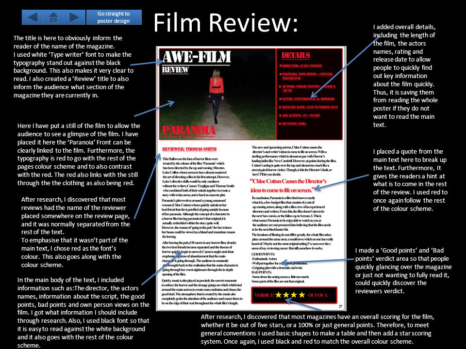 Film Review: The title is here to obviously inform the reader of the name of the magazine.