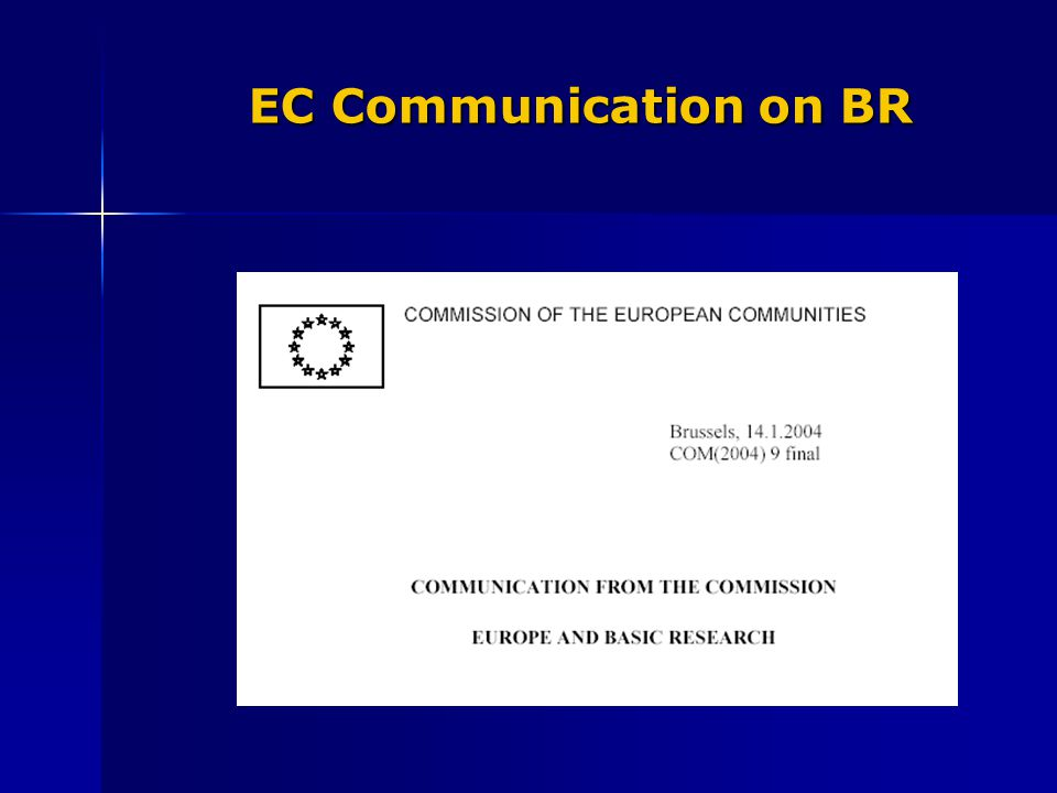 EC Communication on BR