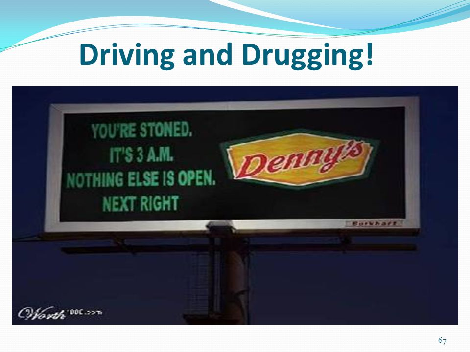 Driving and Drugging! 67