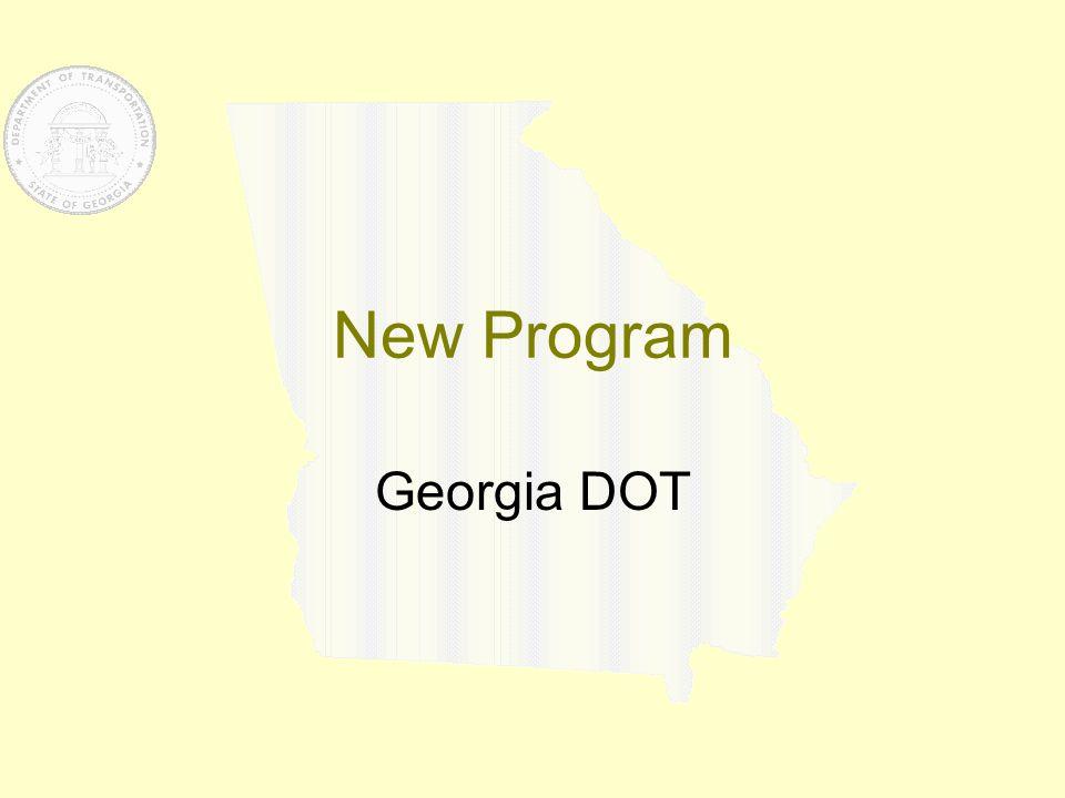 New Program Georgia DOT