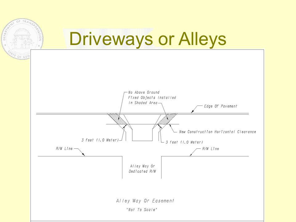 Driveways or Alleys