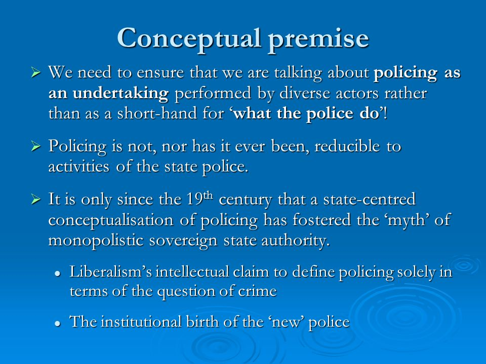 Managing 'Great Expectations'  Public policing resources are finite and have to be funded/prioritised.