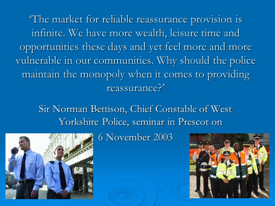 Responsive policing and community engagement can facilitate trust and confidence  Local policing teams can make significant strides in improving local trust and confidence in the police and facilitating economic and social well-being.