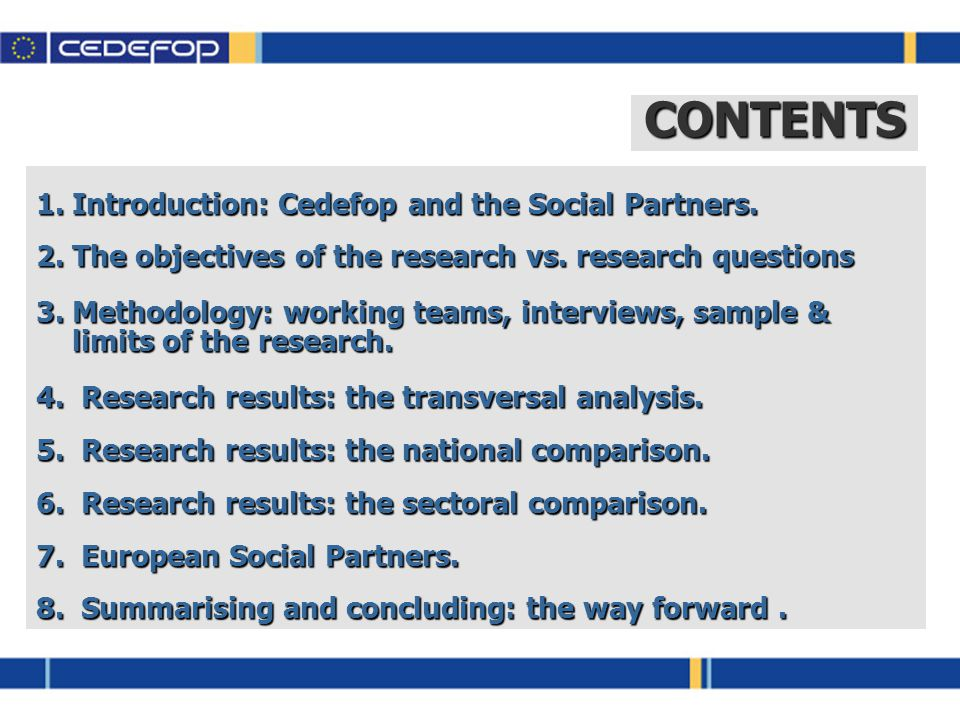 1.Introduction: Cedefop and the Social Partners.