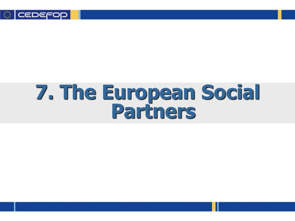 7. The European Social Partners