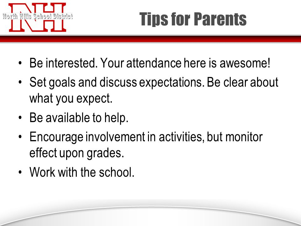 Tips for Parents Be interested. Your attendance here is awesome.