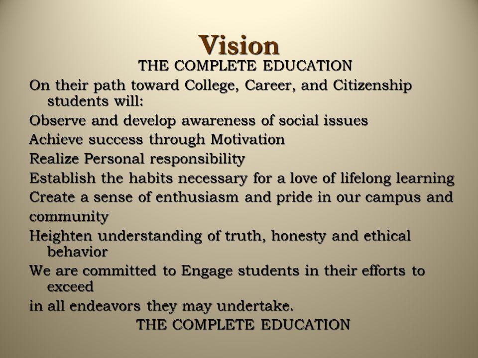 Goal #3 Community involvement Goal: Increase student awareness of community involvement and issues.