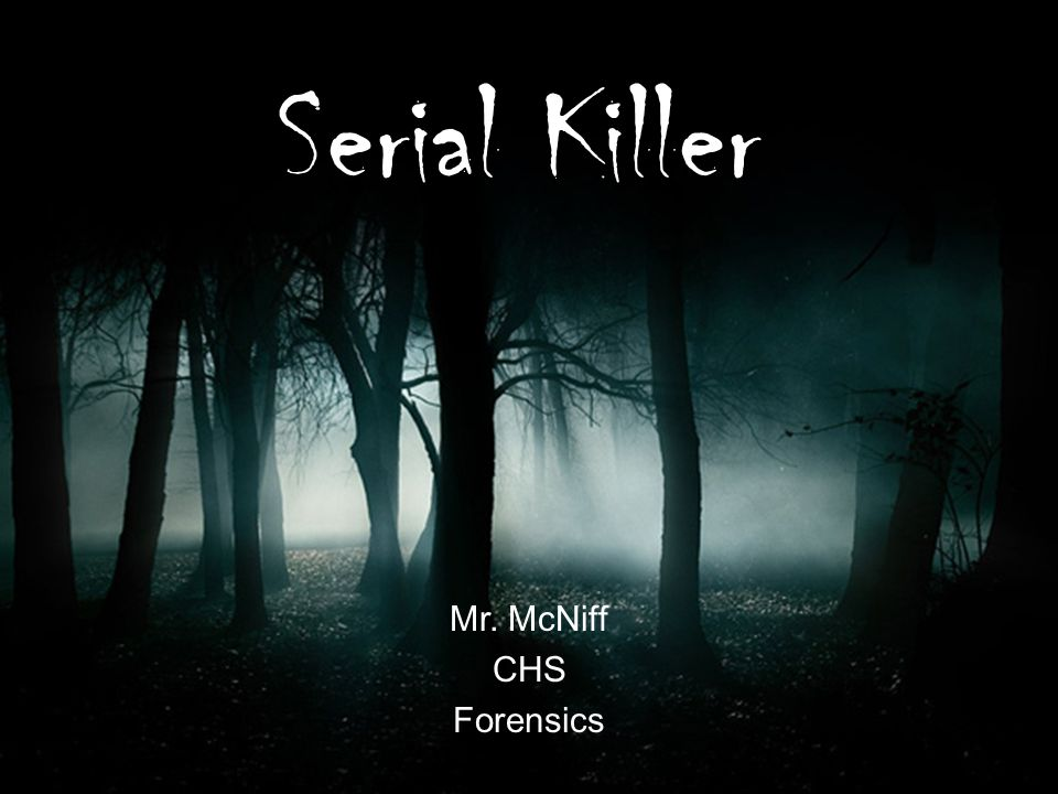 Serial killers are insane or are evil geniuses.