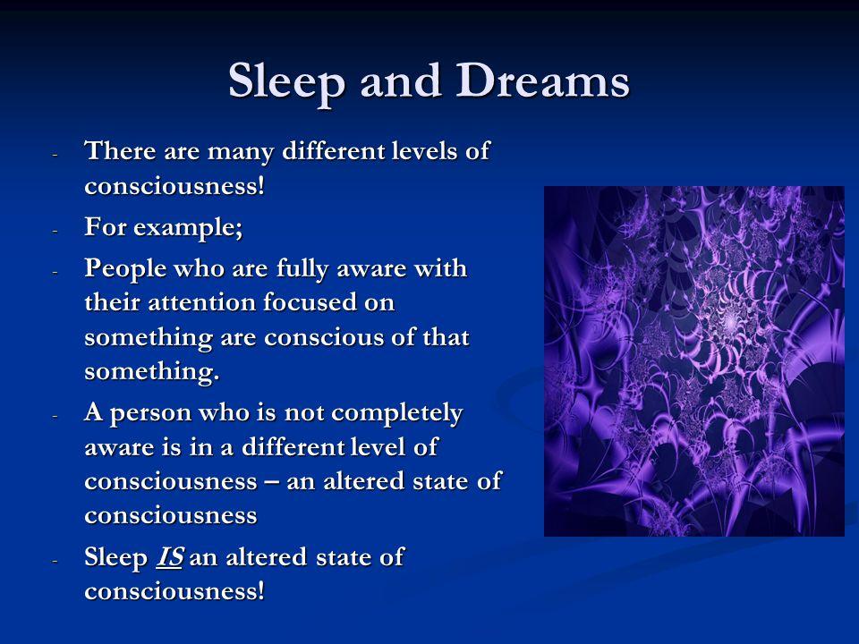 Freud's Levels of Consciousness Sigmund Freud identified three levels of Consciousness.