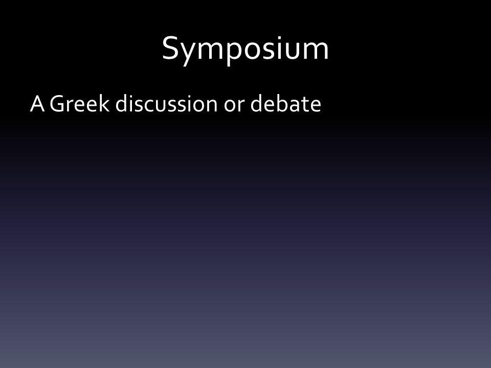 A Greek discussion or debate