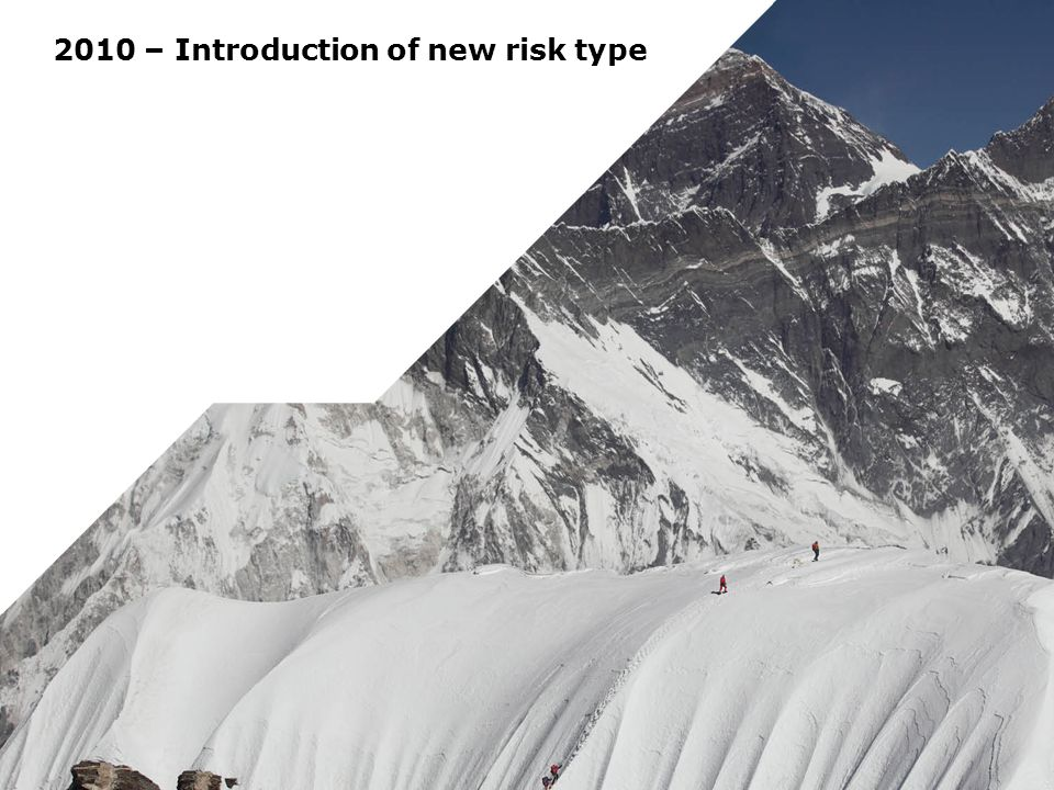 2010 – Introduction of new risk type