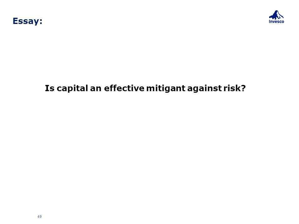 Is capital an effective mitigant against risk? 49 Essay: