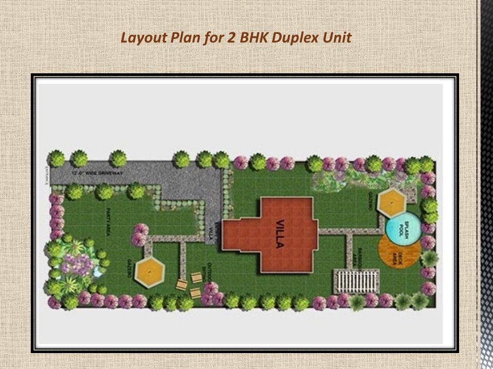 Layout Plan for 2 BHK Duplex Unit