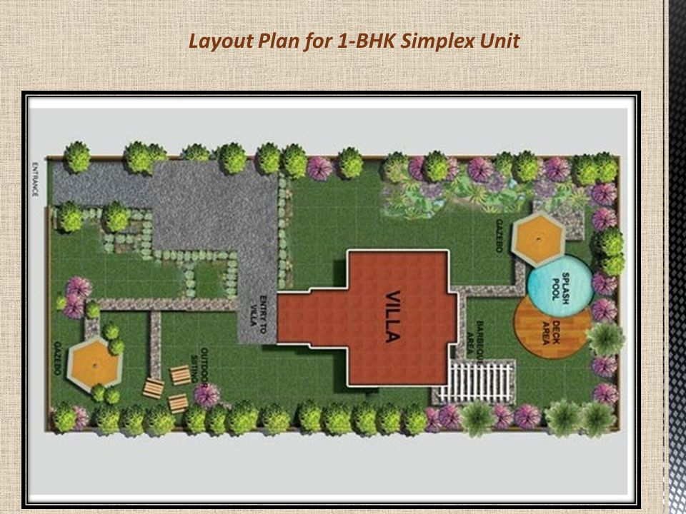 Layout Plan for 1-BHK Simplex Unit - Villa