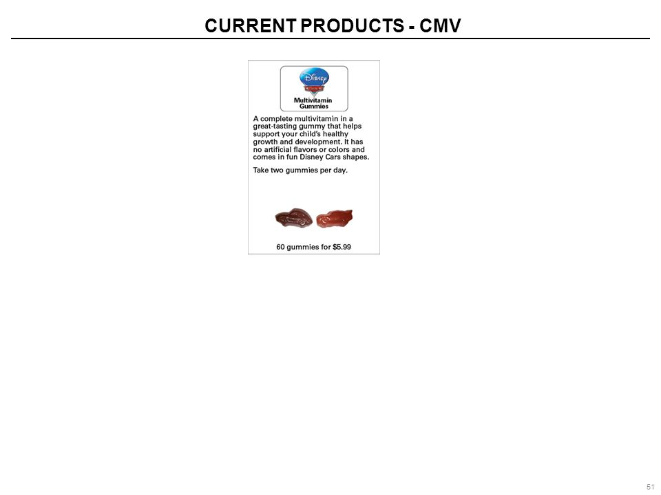 51 CURRENT PRODUCTS - CMV