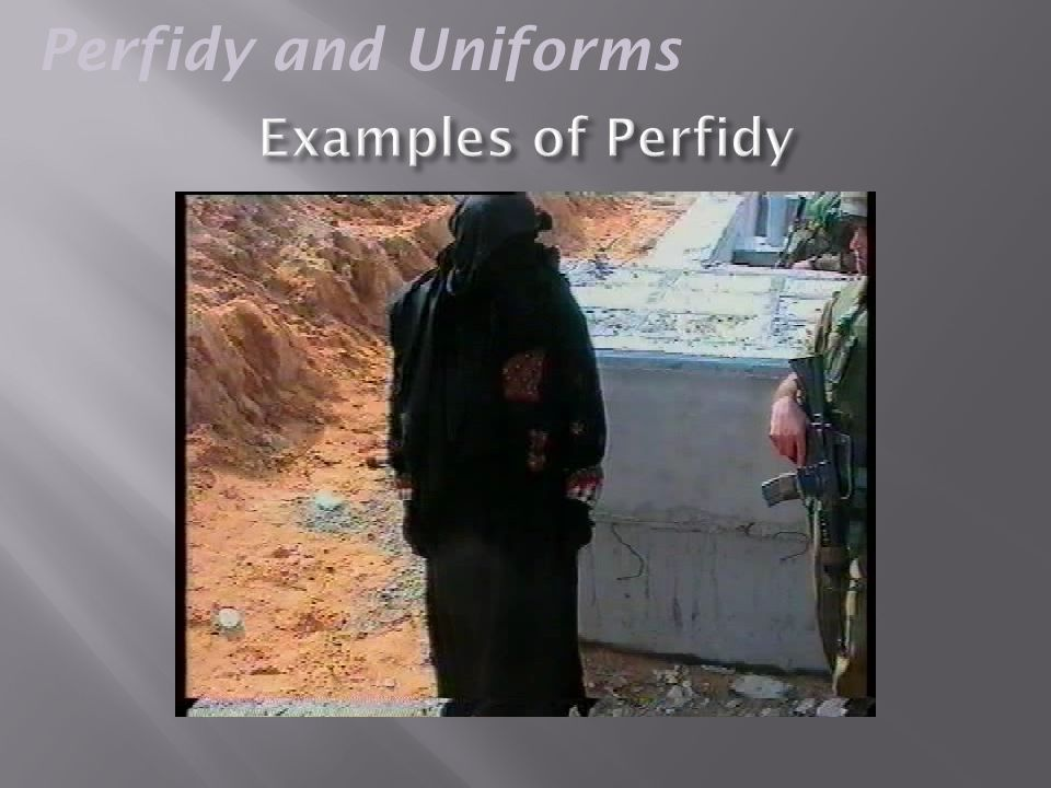 Permissible Perfidy?