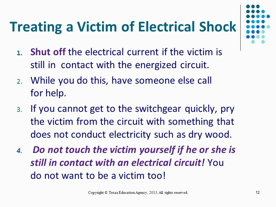 The danger from electrical shock depends on: the amount of the shocking current through the body, the duration of the shocking current through the bod