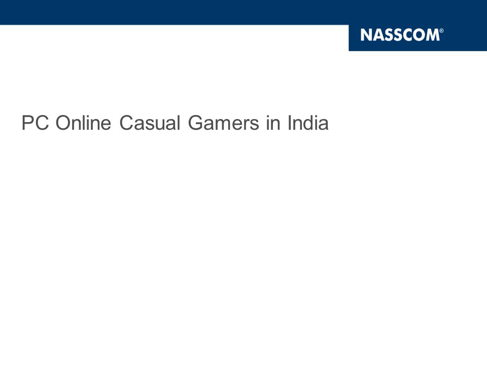 PC Online Casual Gamers in India