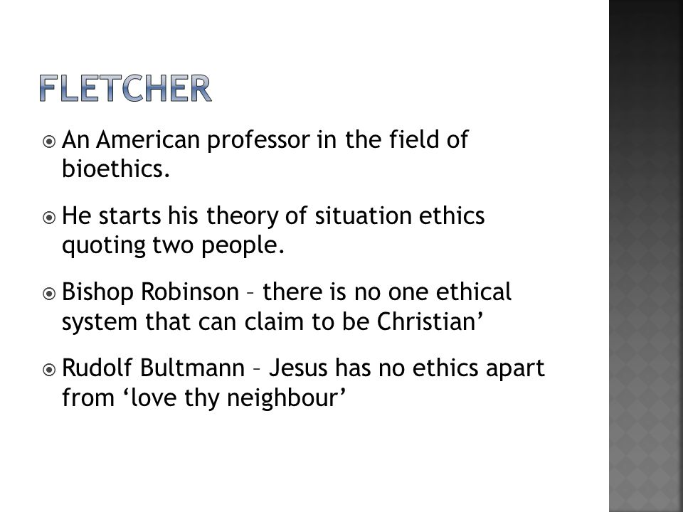  An American professor in the field of bioethics.