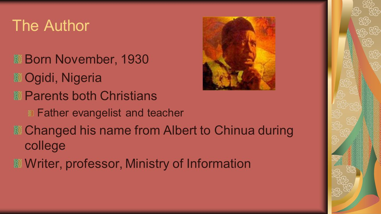 Close Study: Nwoye's Conversion Read the final paragraph of Chapter 16 (pg 147).