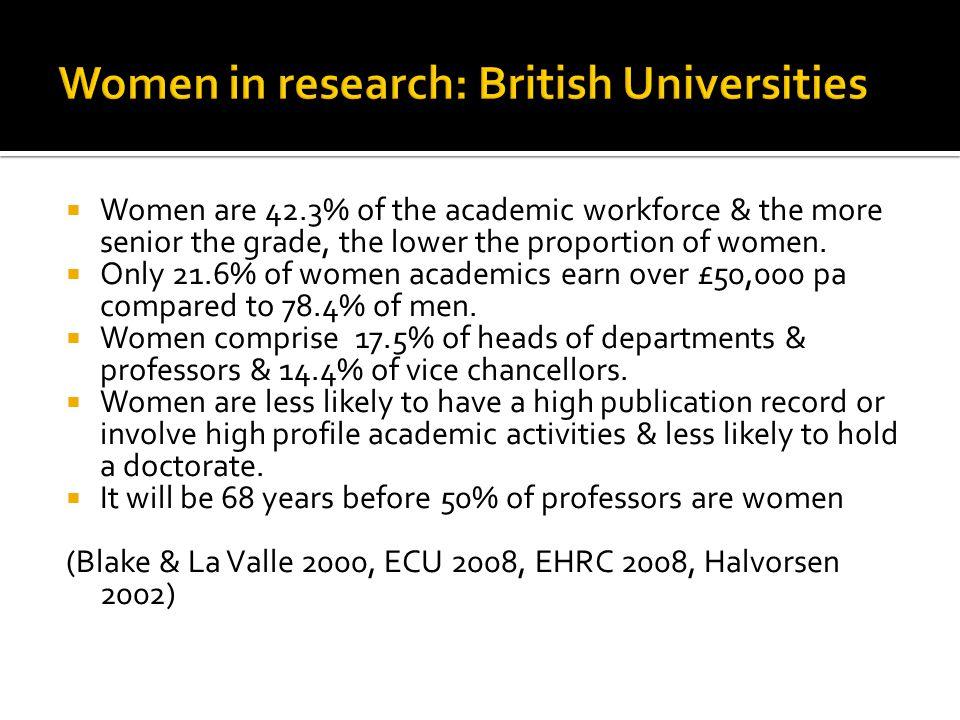  Women comprise 48% of UOW academics. There is a huge variation across Schools e.g.