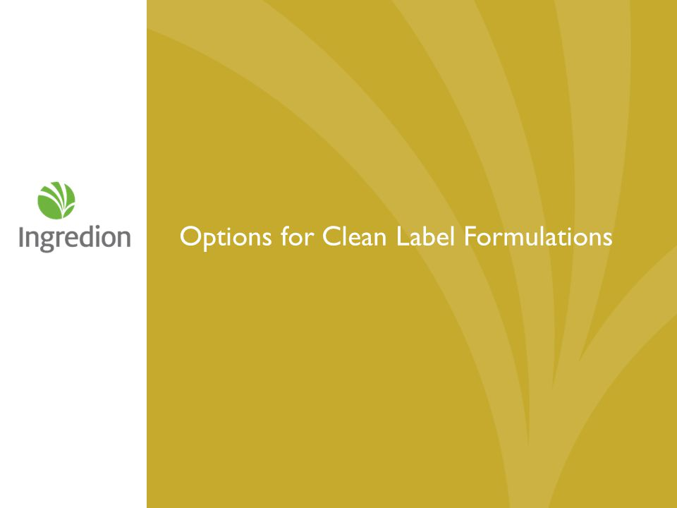 Options for Clean Label Formulations
