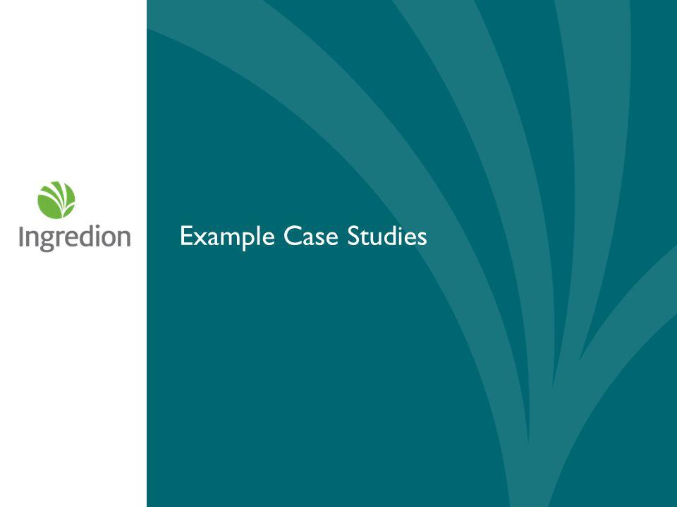Example Case Studies