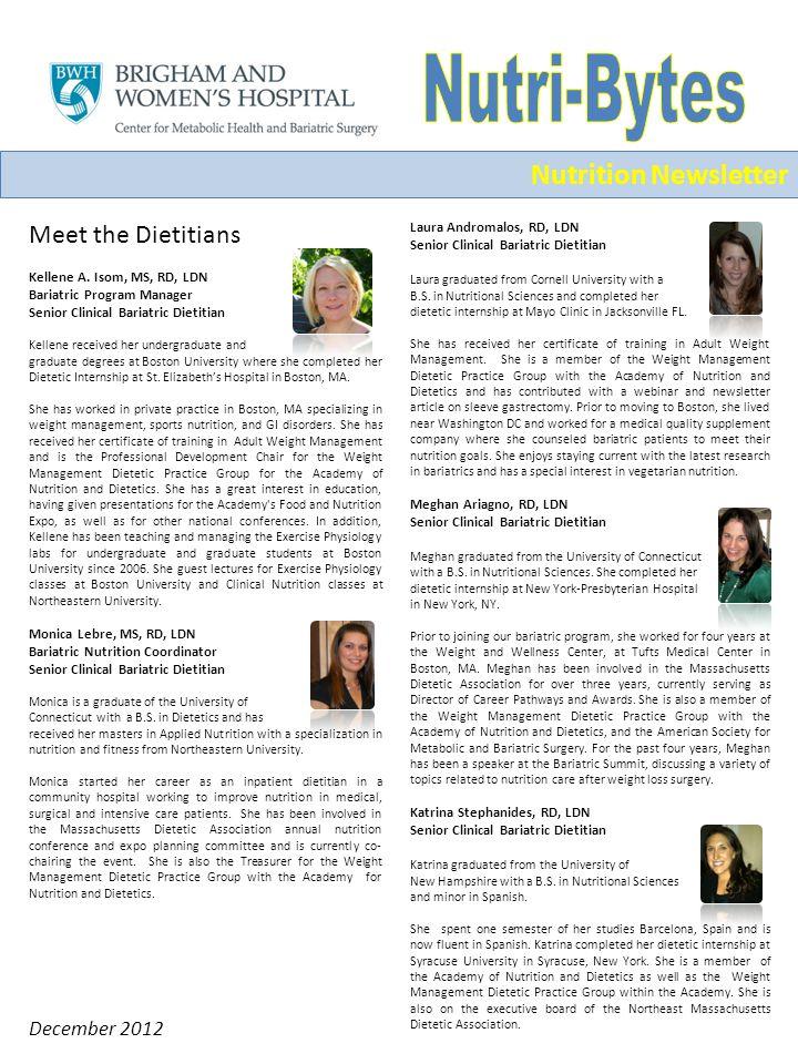 December 2012 Meet the Dietitians Kellene A.