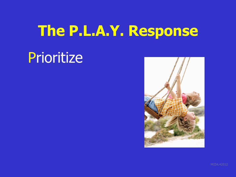 MCDA.42012 The P.L.A.Y. Response Prioritize