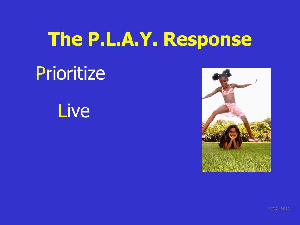 MCDA.42012 The P.L.A.Y. Response Prioritize Live