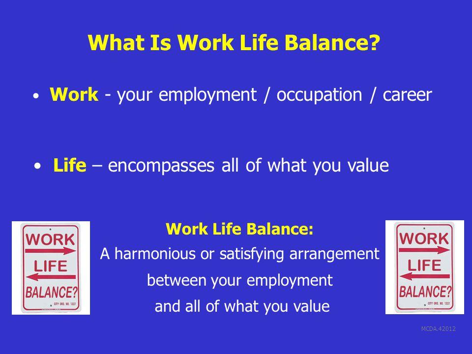 MCDA.42012 What Is Work Life Balance.