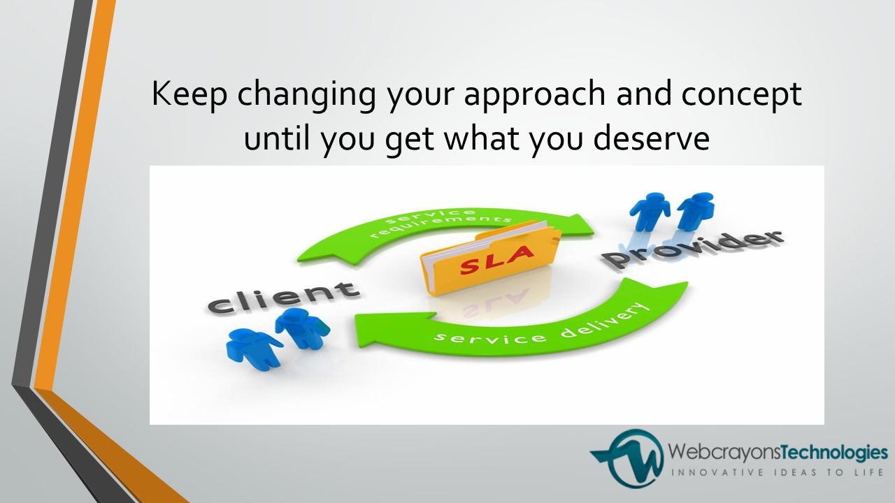 Keep changing your approach and concept until you get what you deserve