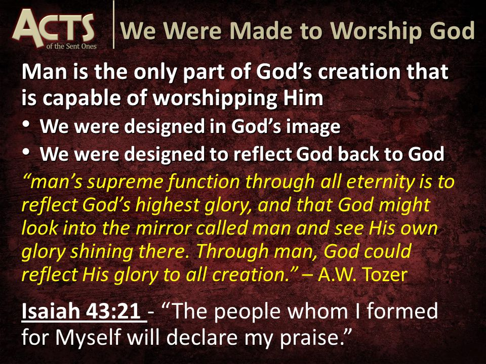 God Our Worship