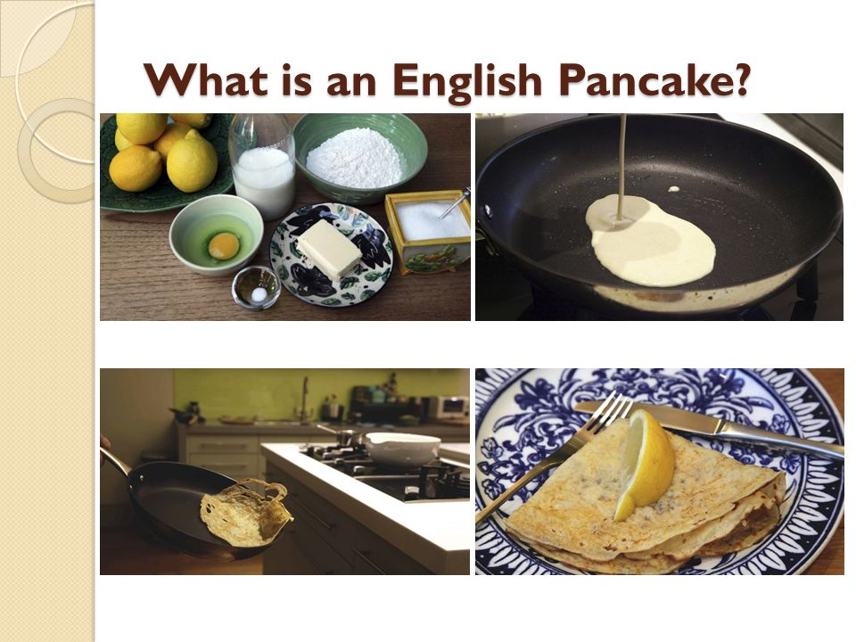 What is an English Pancake?