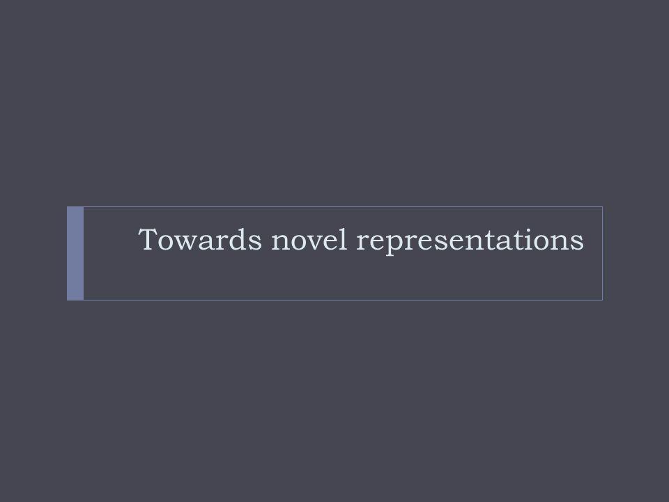 Towards novel representations