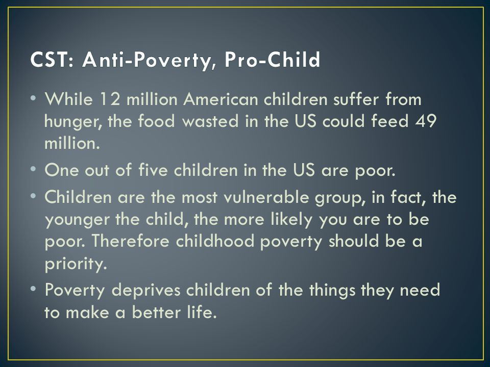 While 12 million American children suffer from hunger, the food wasted in the US could feed 49 million.